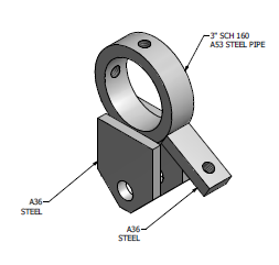 "Pivot Yoke for 2"" Pipe - 10053 - AshtonTucker"